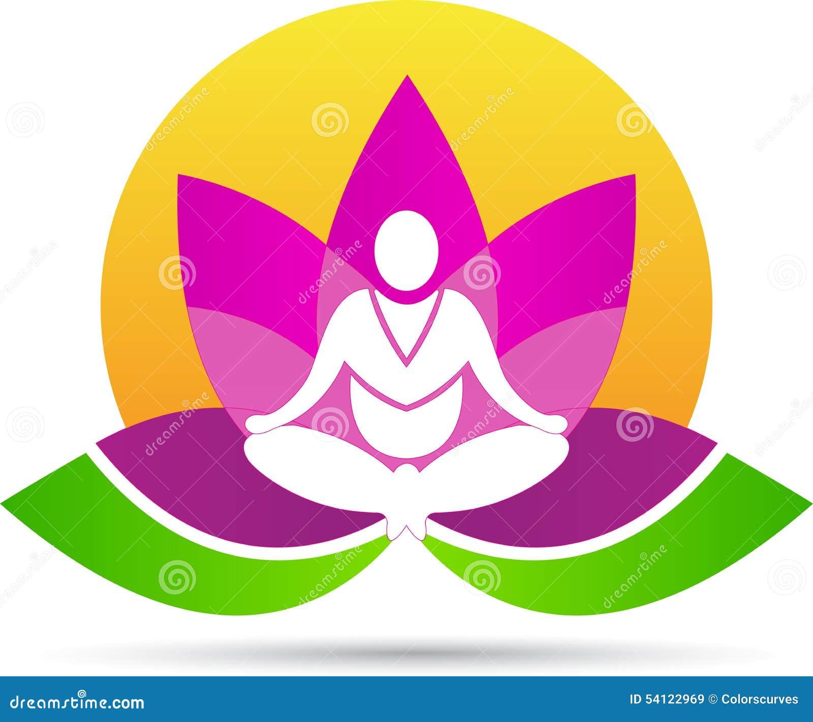 Lotus meditation yoga stock vector  Illustration of buddhism