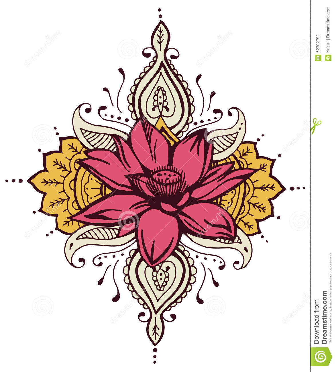 Lotus paisley henna design stock illustration illustration of lotus paisley henna design izmirmasajfo Image collections