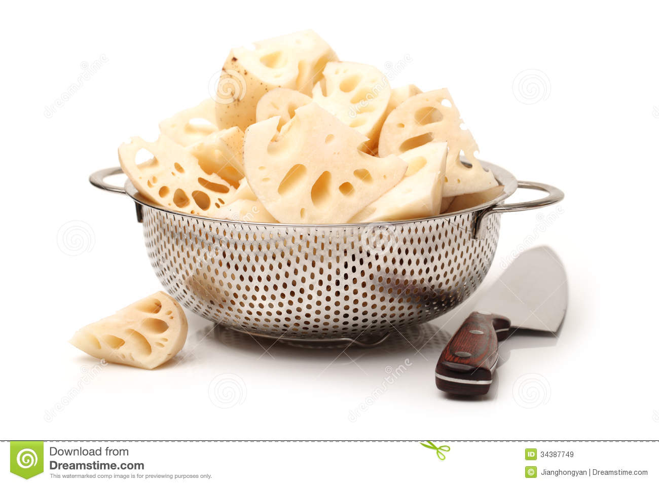 how to clean lotus root