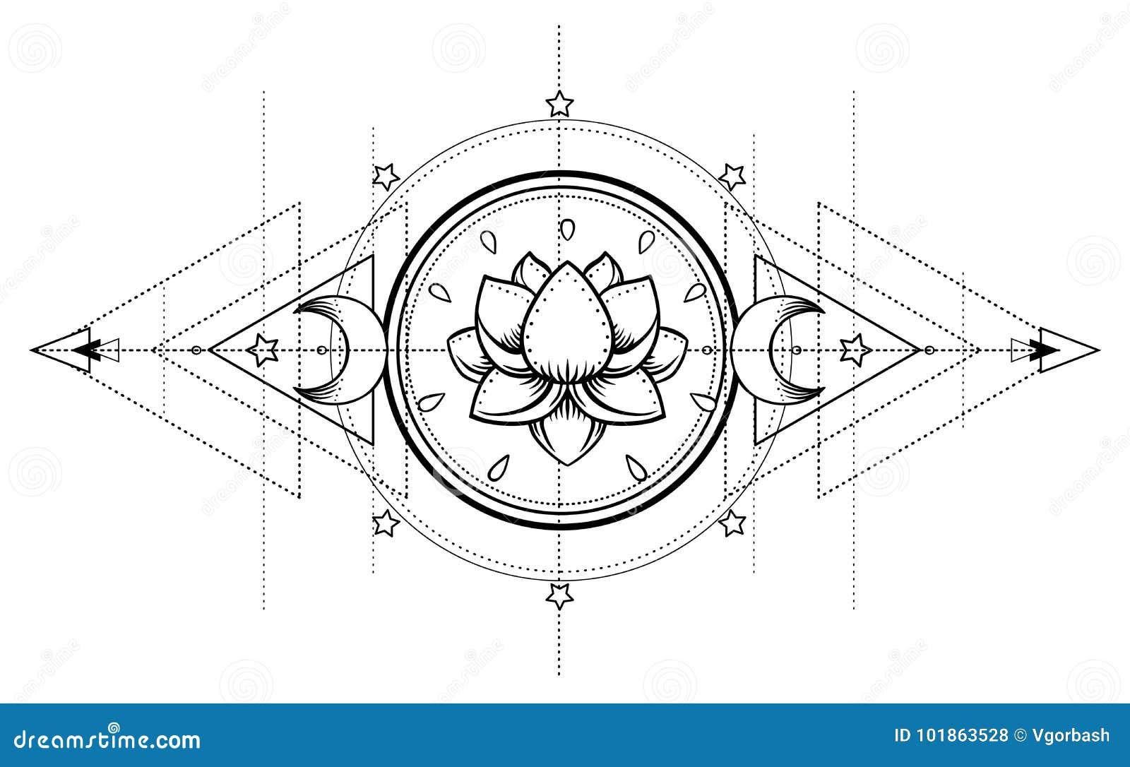 Lotus And Sacred Geometry  Ayurveda Symbol Of Harmony And Balance