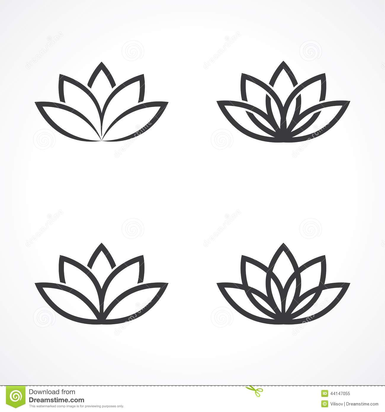 Lotus symbol illustration de vecteur image 44147055 - Fleur de lotus symbole ...