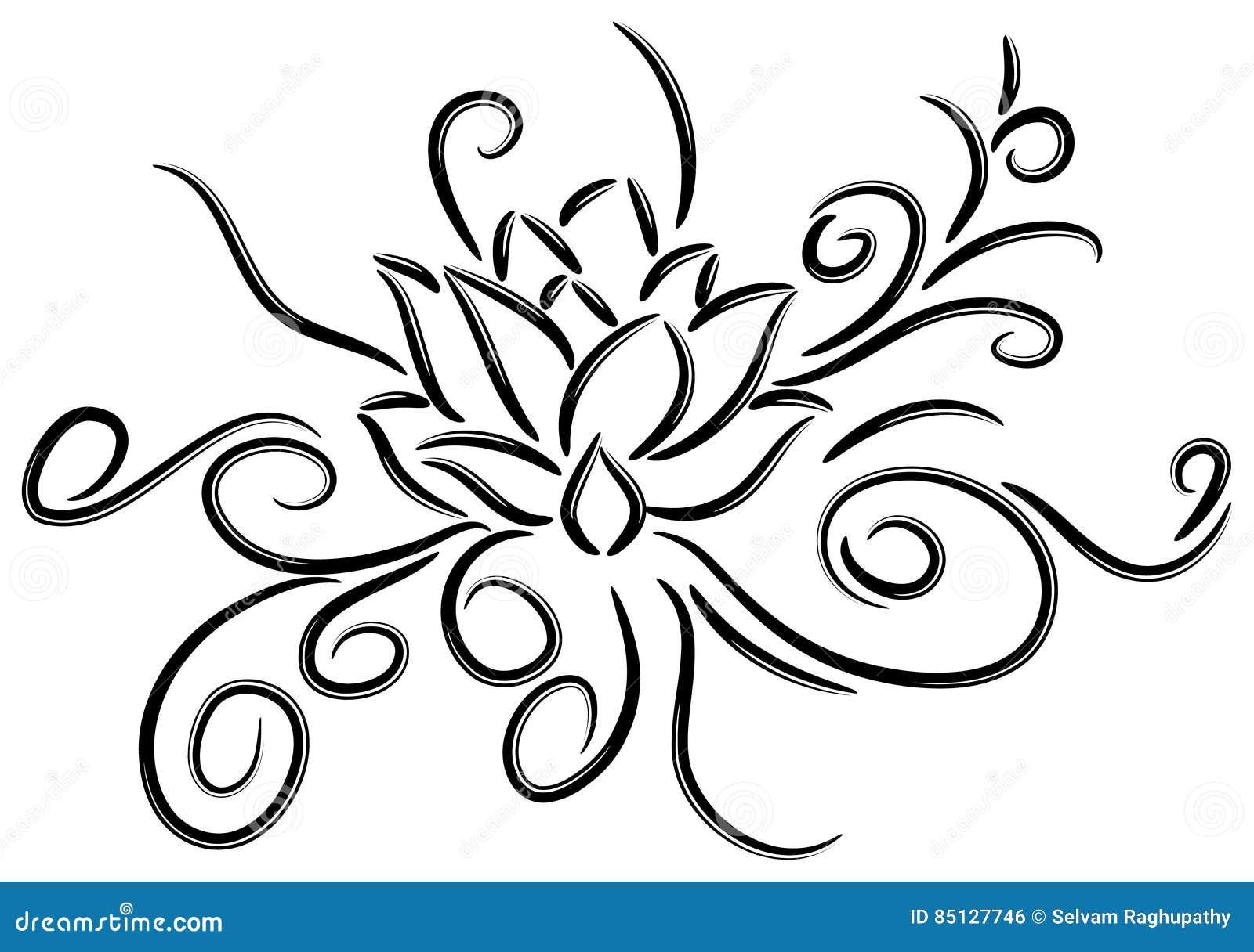 Lotus Tattoo Ilustración Del Vector Ilustración De Belleza 85127746