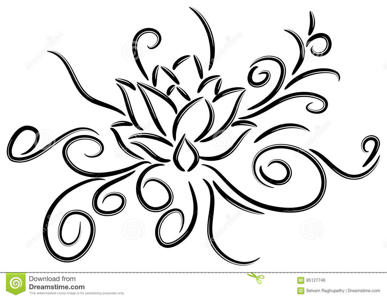lotus tattoo stock vector illustration of beauty element