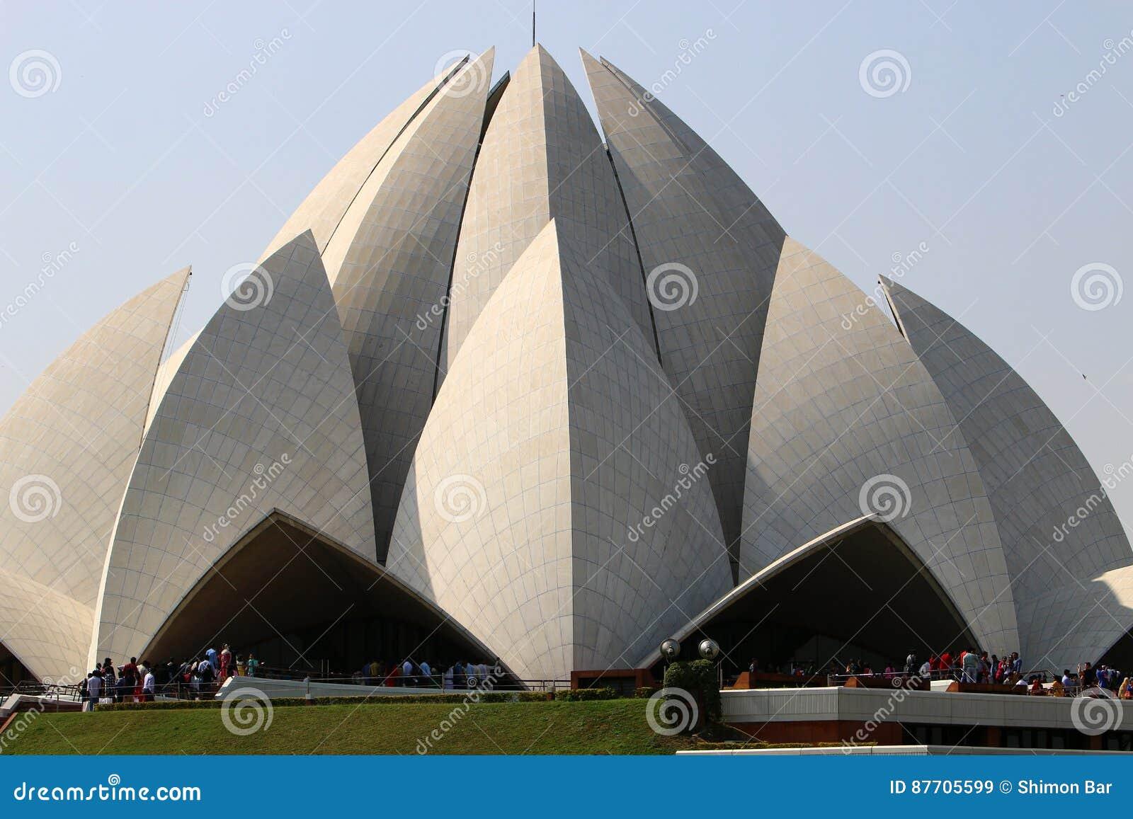 Lotus Temple - le temple principal de la religion de Bahai dans l Inde