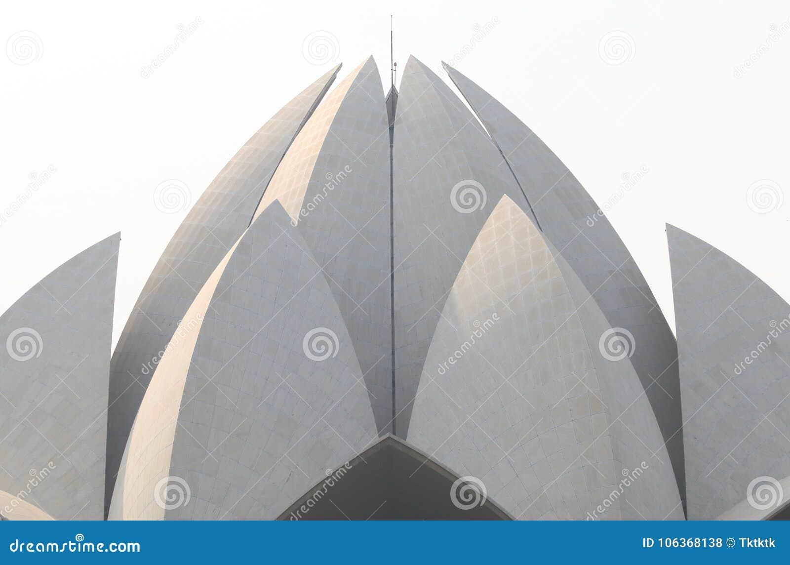 Lotus Temple Modern Architecture New Delhi India Editorial Stock