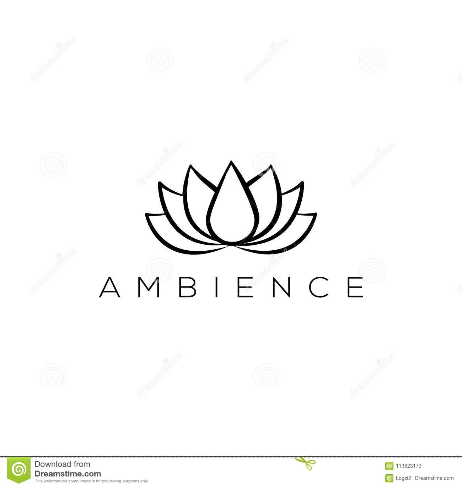 Lotus Vector Logo Spa Logo Wellness Emblem Health Logo Stock