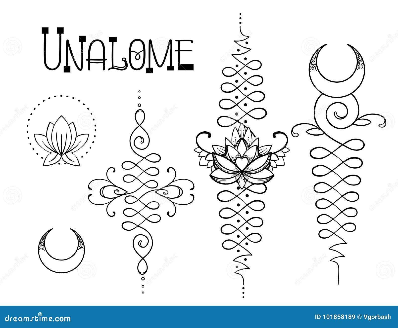 Lotus y geometría sagrada Símbolo hindú de Unamole de la sabiduría y del PA