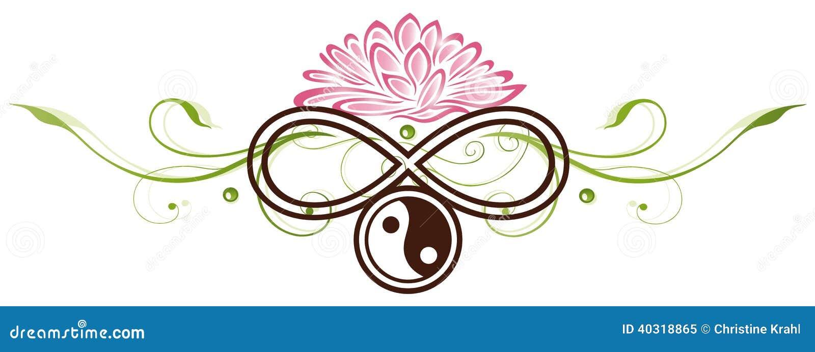 Lotus yang de yin illustration de vecteur image 40318865 - Fleur de lotus symbole ...