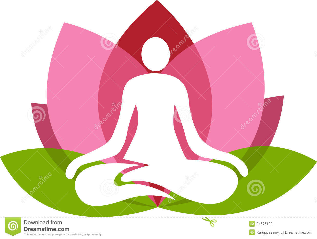 Illustration art of a lotus yoga with isolated background.