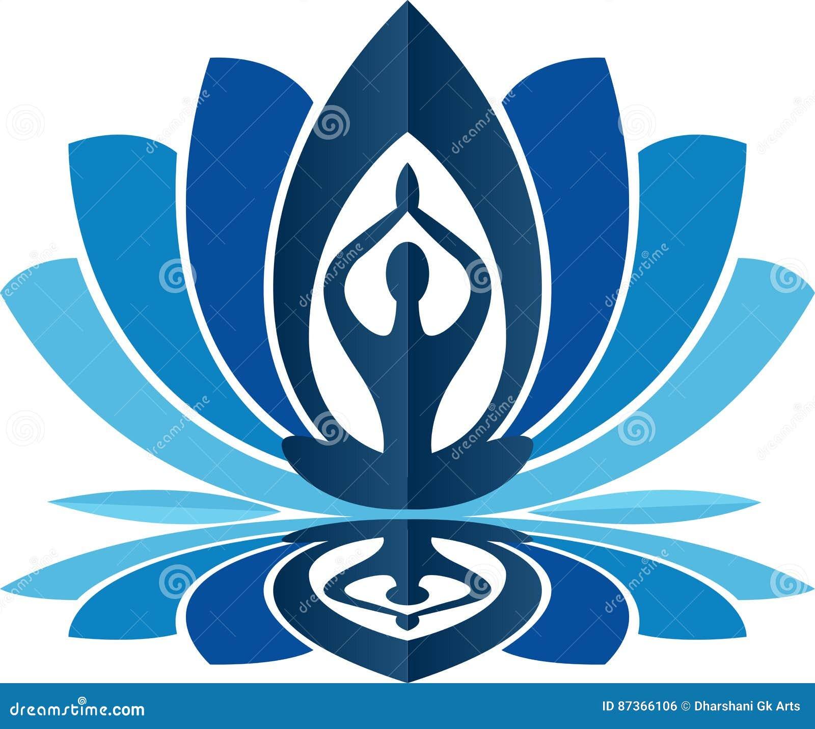 Lotus Yoga Logo Stock Illustration Illustration Of Icon 87366106