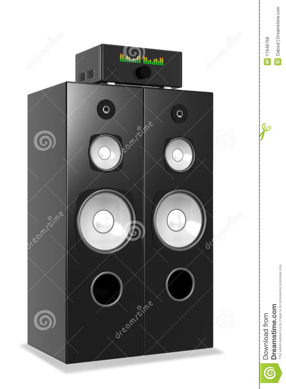loud music from big audio system stock illustration
