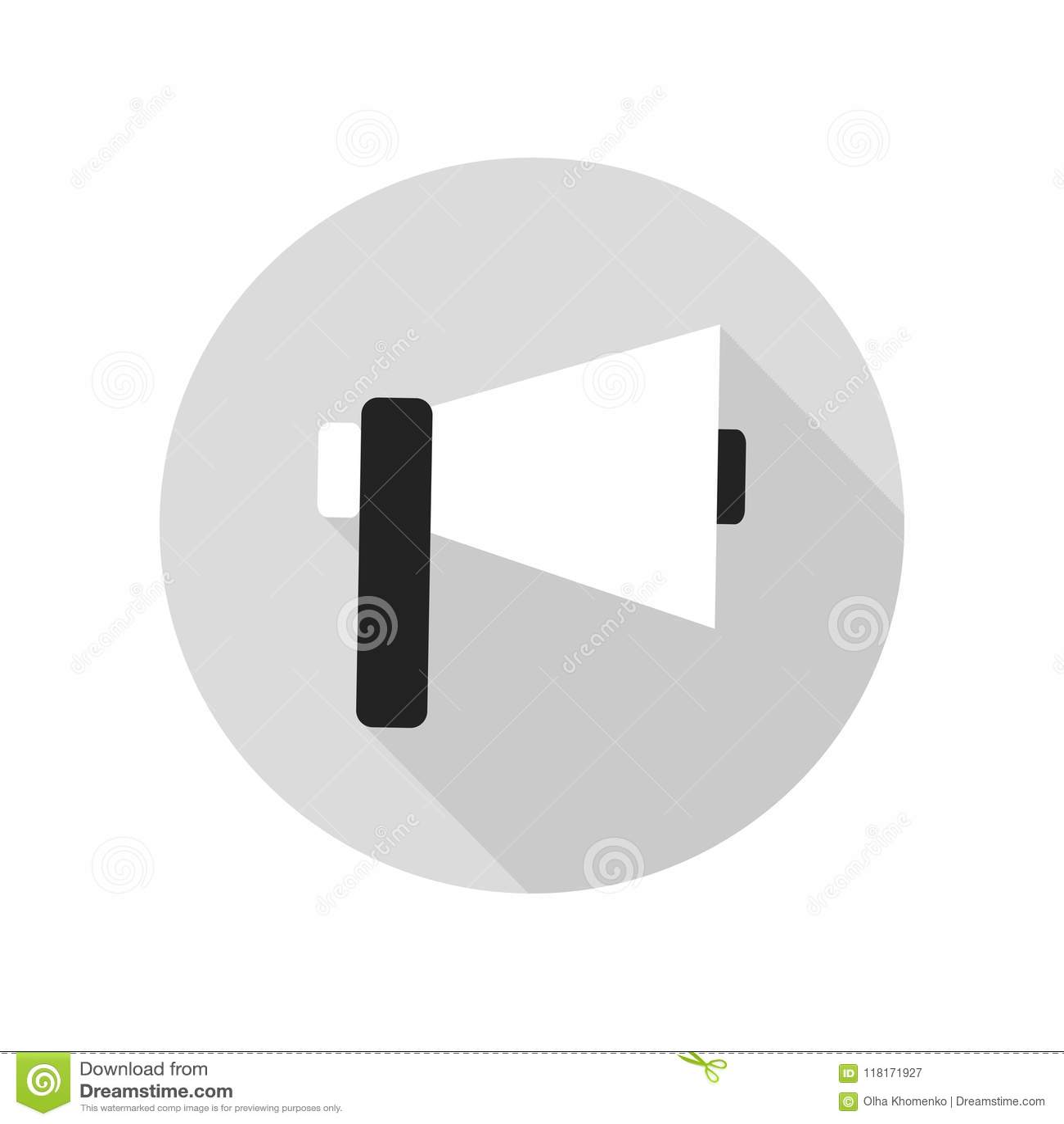 Loudspeaker Icon. Speaker Sign And Symbol. Megaphone. Stock Vector ...