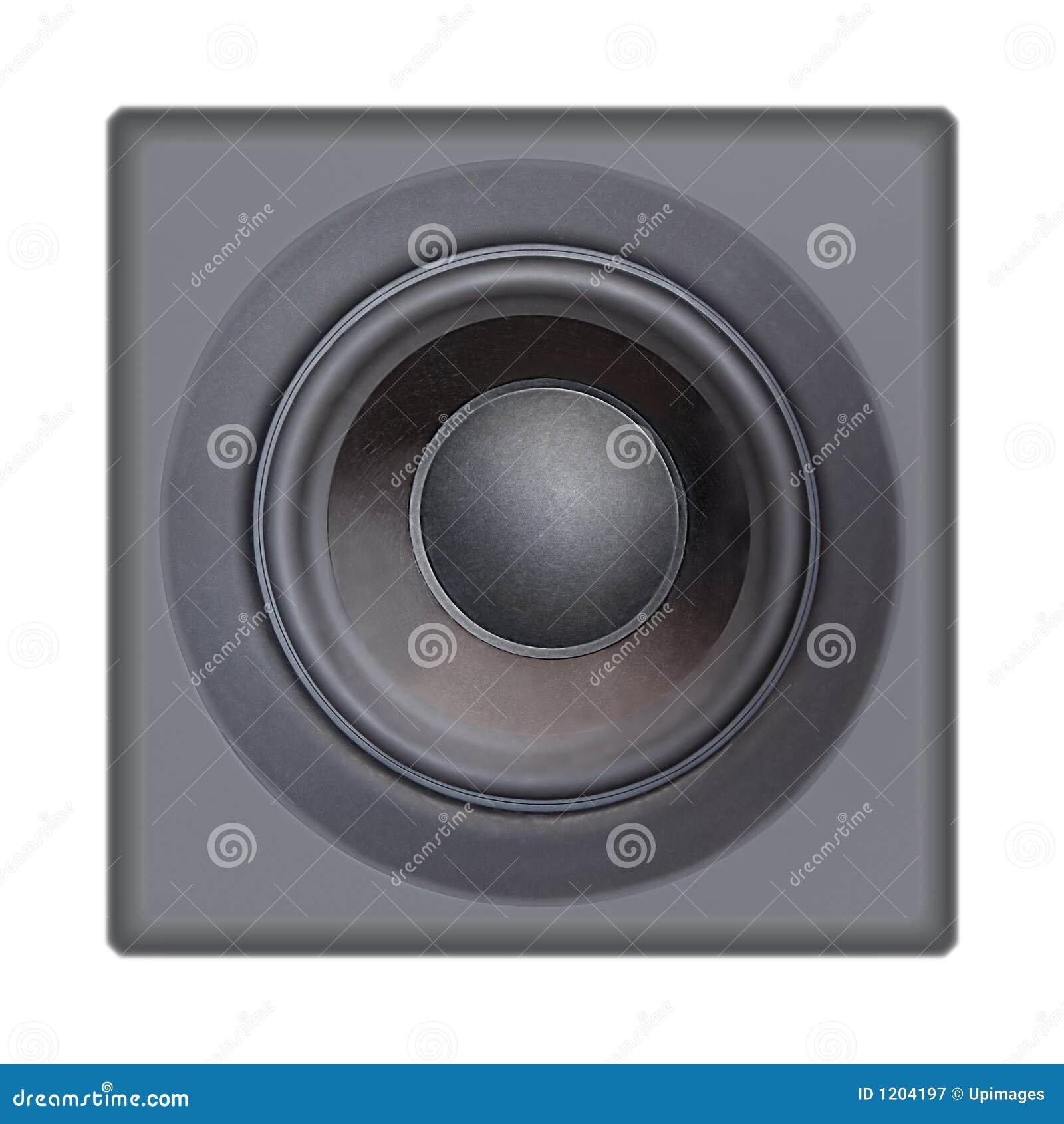 Loudspeaker On White