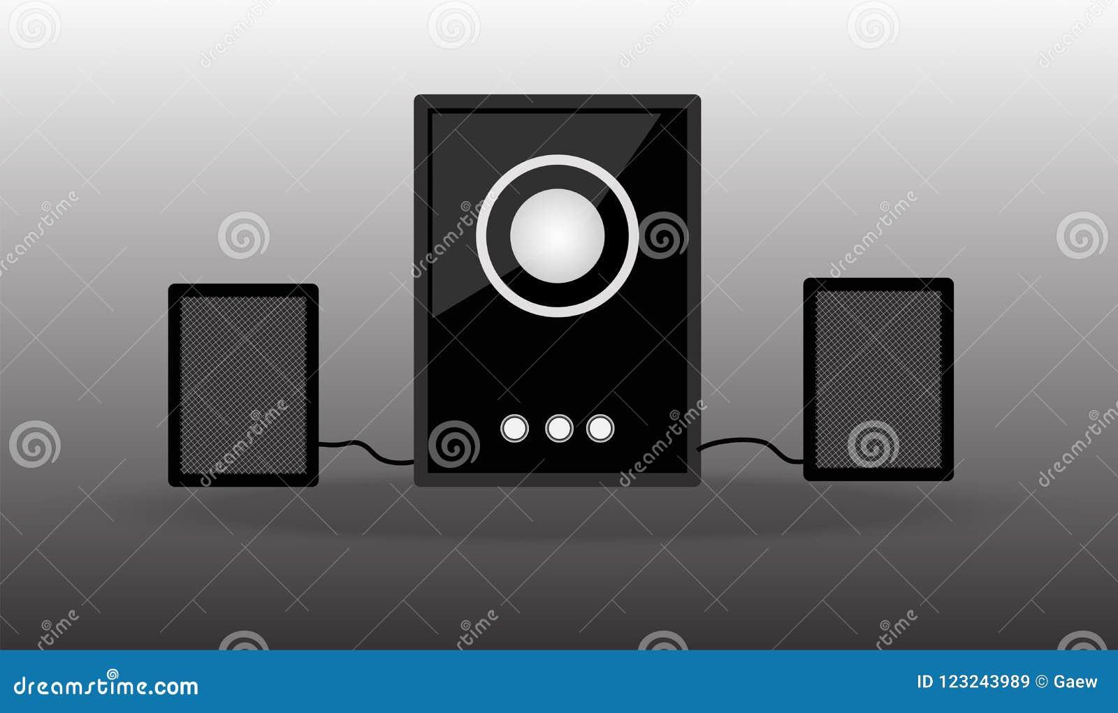Loudspeakers Som da música do dispositivo dos oradores dos multimédios