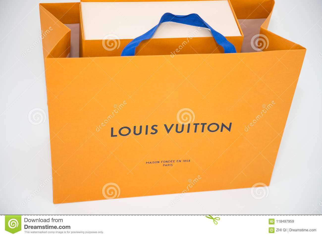5a514827ab6b A Louis Vuitton box. Louis Vuitton is a designer fashion brand known for  its leather