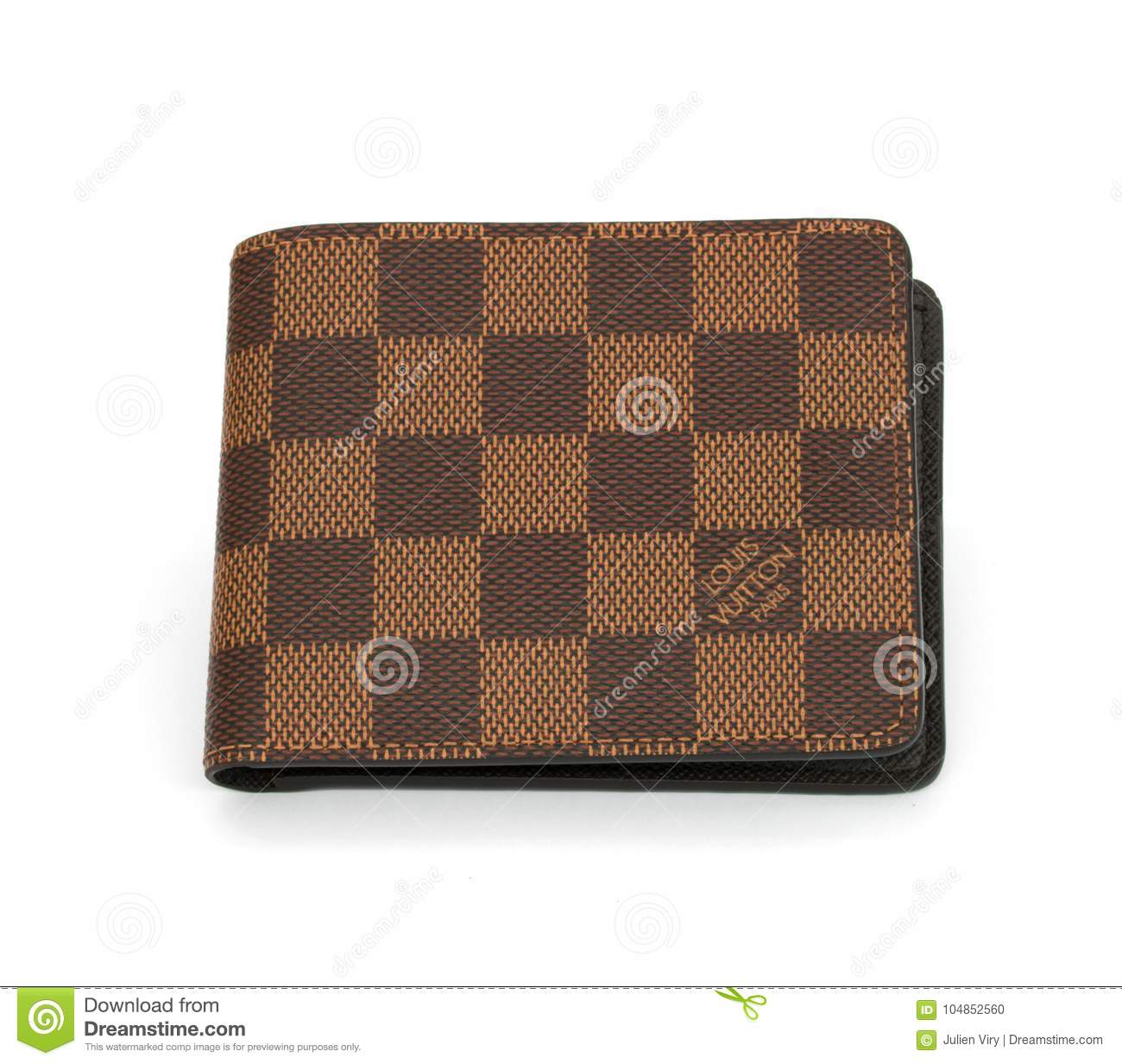 bf610ad0b Louis Vuitton Brown Man Wallet Isolated On White Background ...