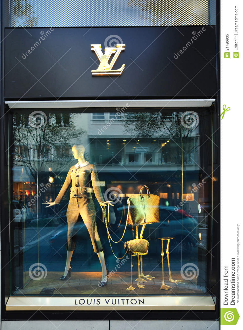1f6228b8dee06 Louis Vuitton clothes and accessories store from Frankfurt city in Germany.