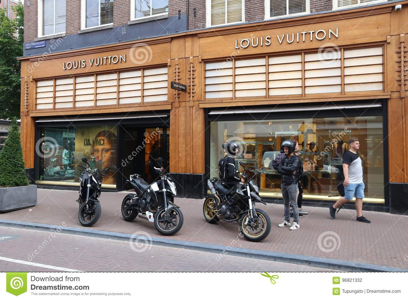 30cd6ddd635 Louis Vuitton, Netherlands editorial photography. Image of street ...