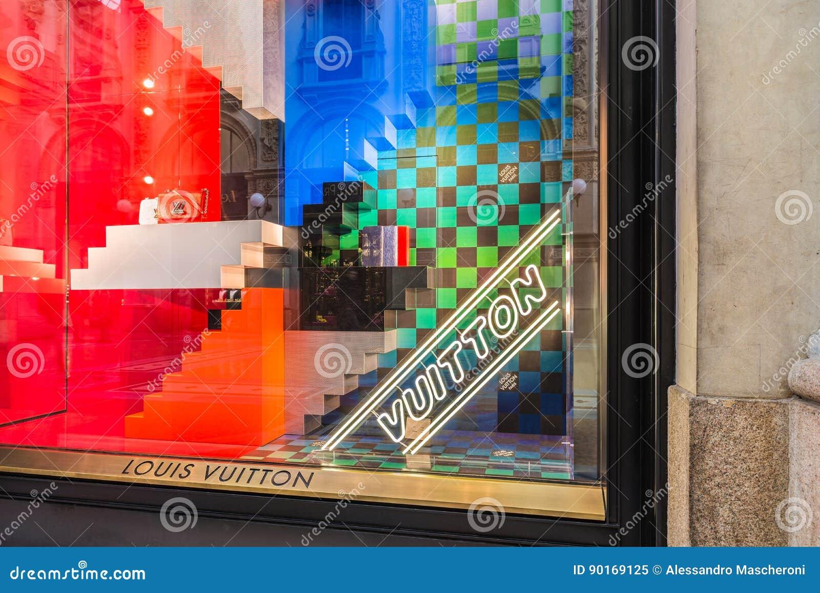 Louis Vuitton Fashion Boutique In Italy Editorial Photo ...