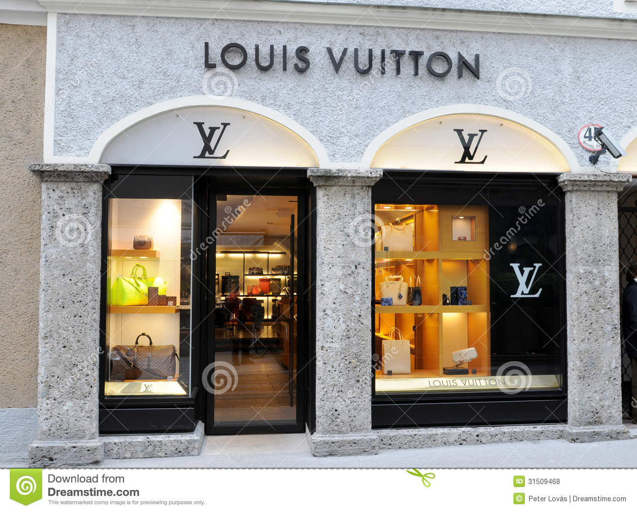 louis vuitton shop in salzburg editorial stock photo image 31509468. Black Bedroom Furniture Sets. Home Design Ideas