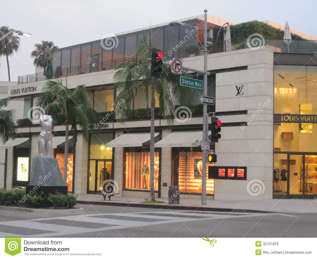Louis Vuitton store at Rodeo Drive in Beverly Hills