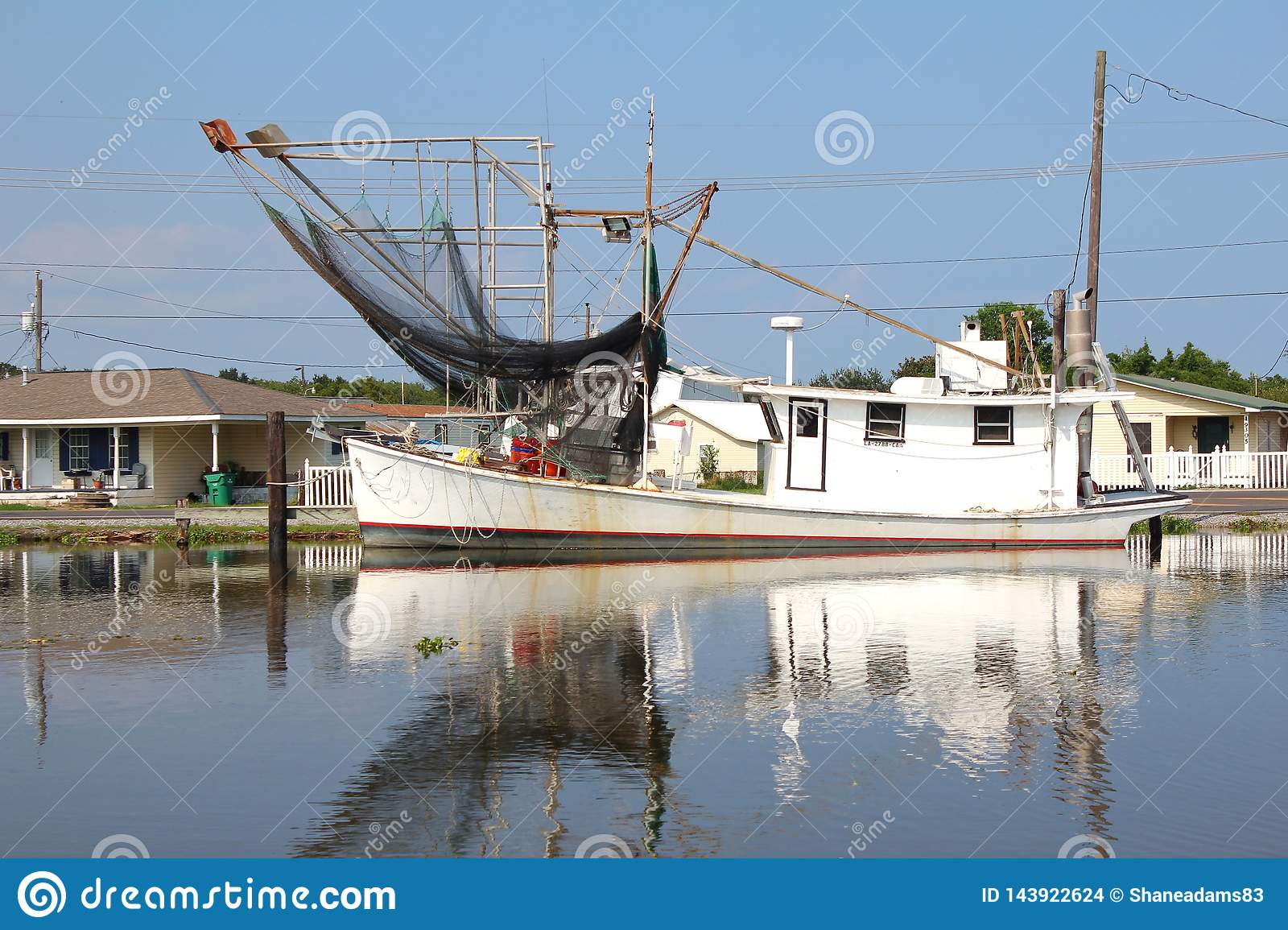 Louisiana-Garnelen-Boot