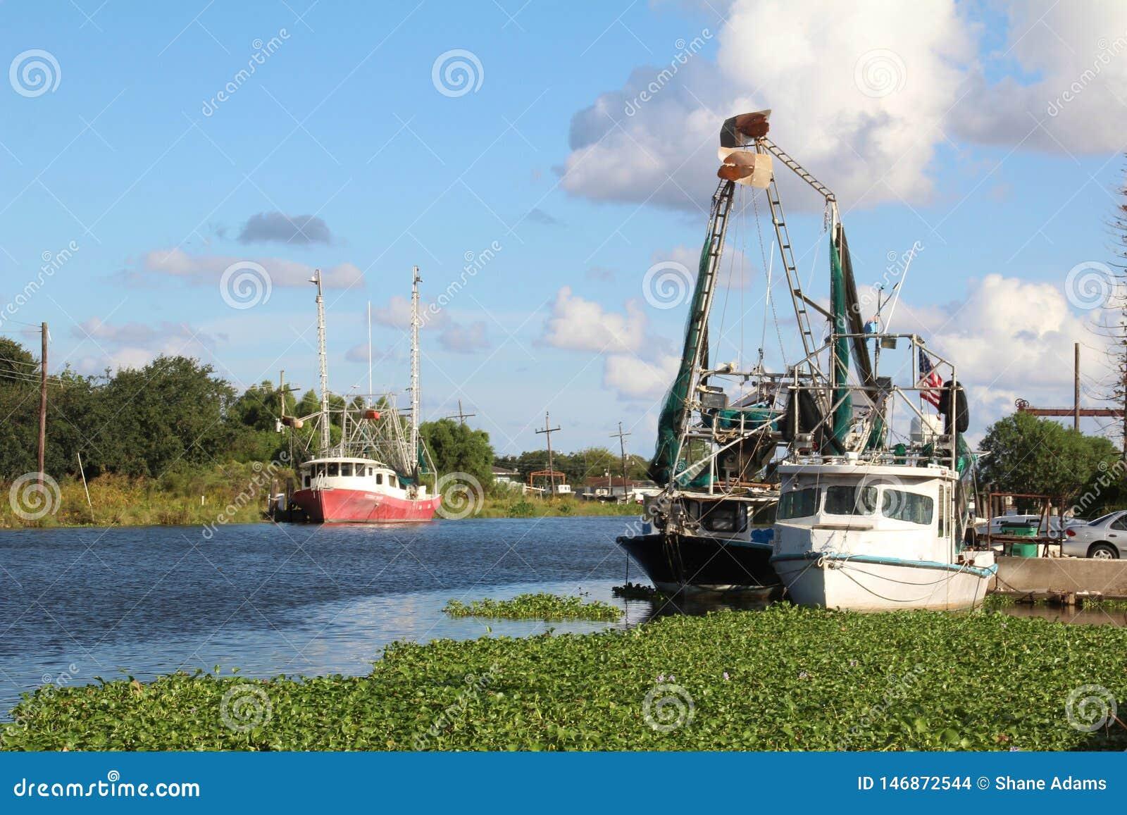 Louisiana-Garnelen-Boote