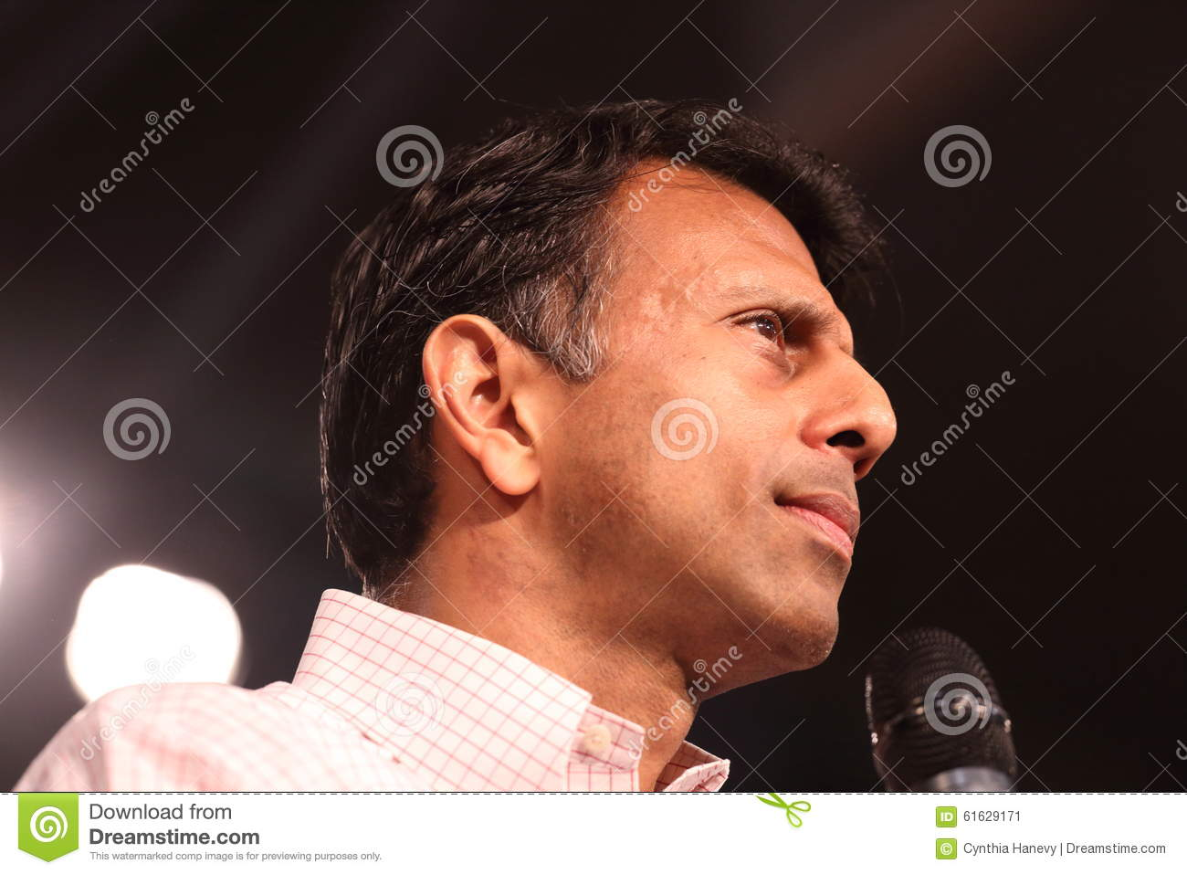 Louisiana Governor Bobby Jindal campaigns