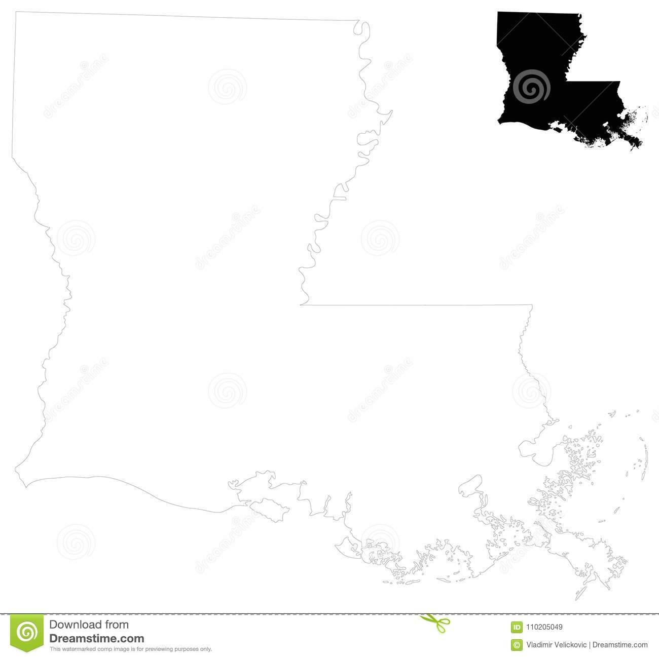 Louisiana Map - State In The Southeastern Region Of The United ...