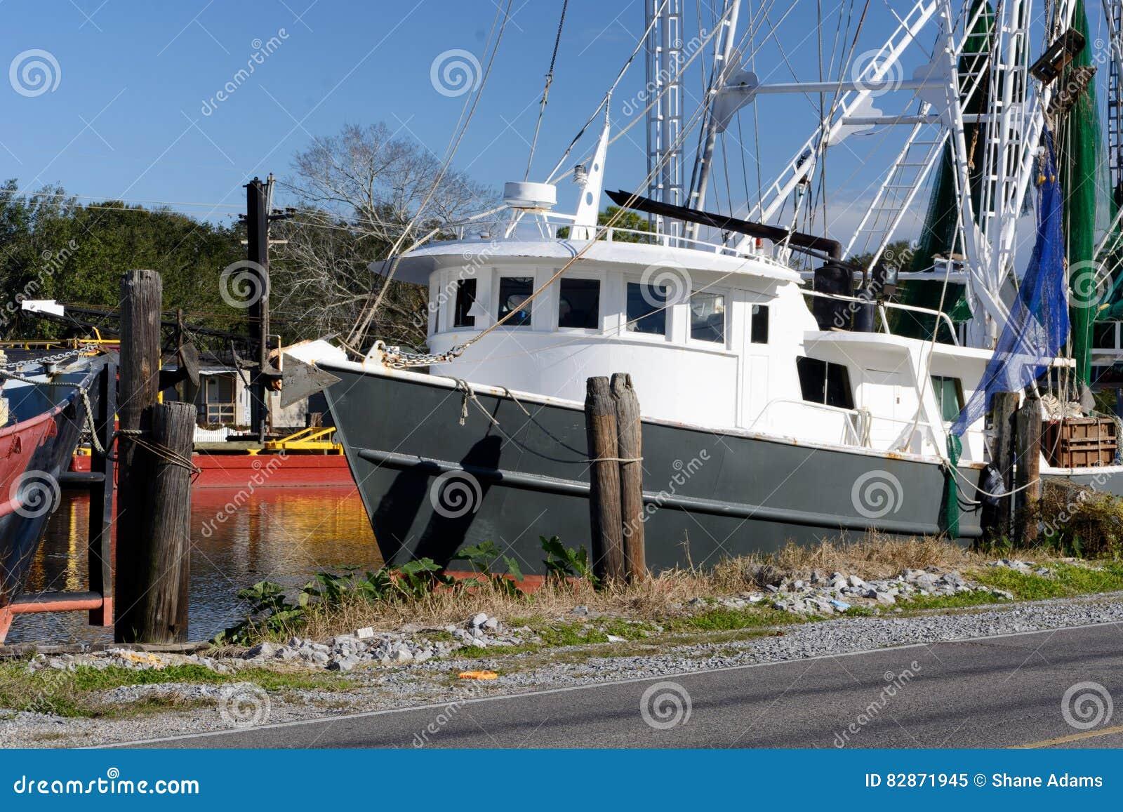 Louisiana Shrimp Boat Stock Photo - Image: 82871945