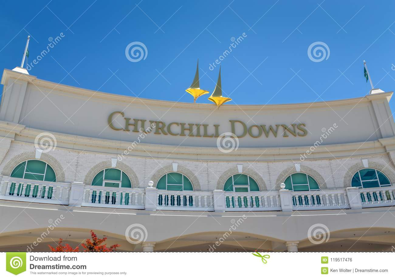 Church Hill Downs Entrance and Logo
