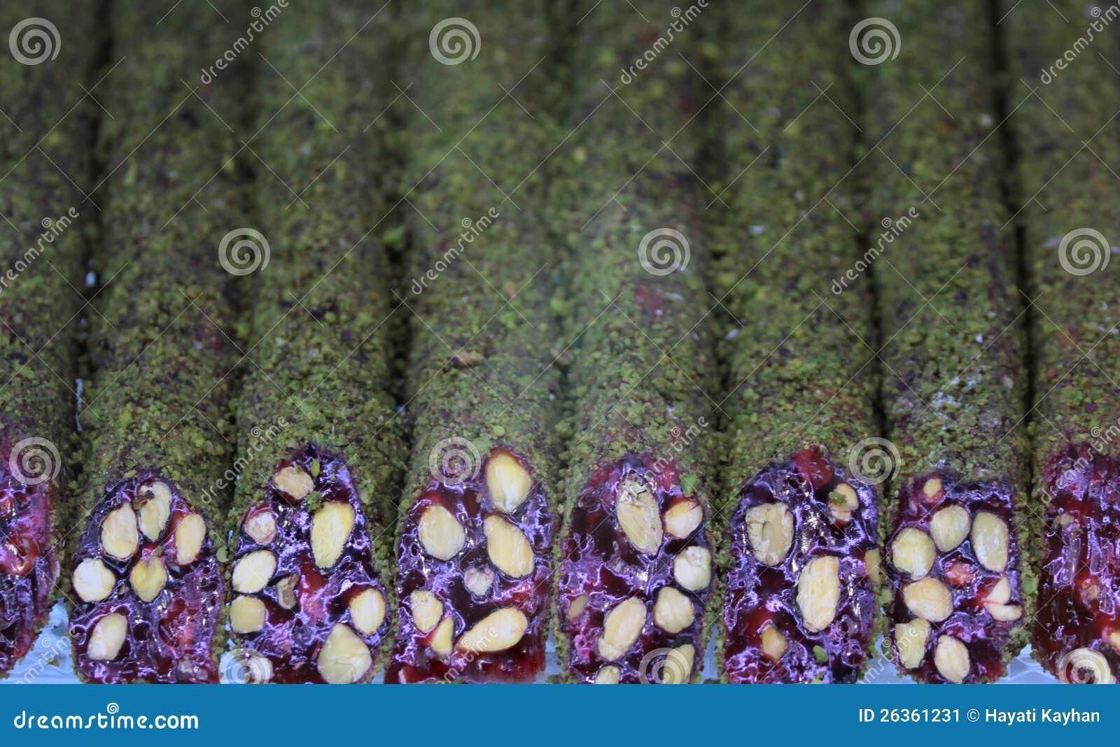 Loukoum com porcas de pistache