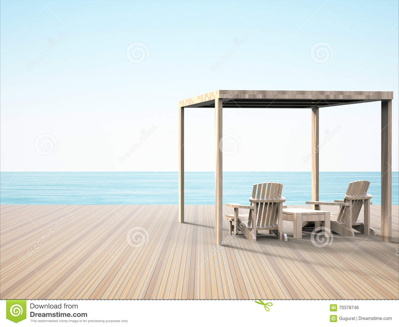 Lounge chair simple on the beautiful beaches of the evening feeling comfortable
