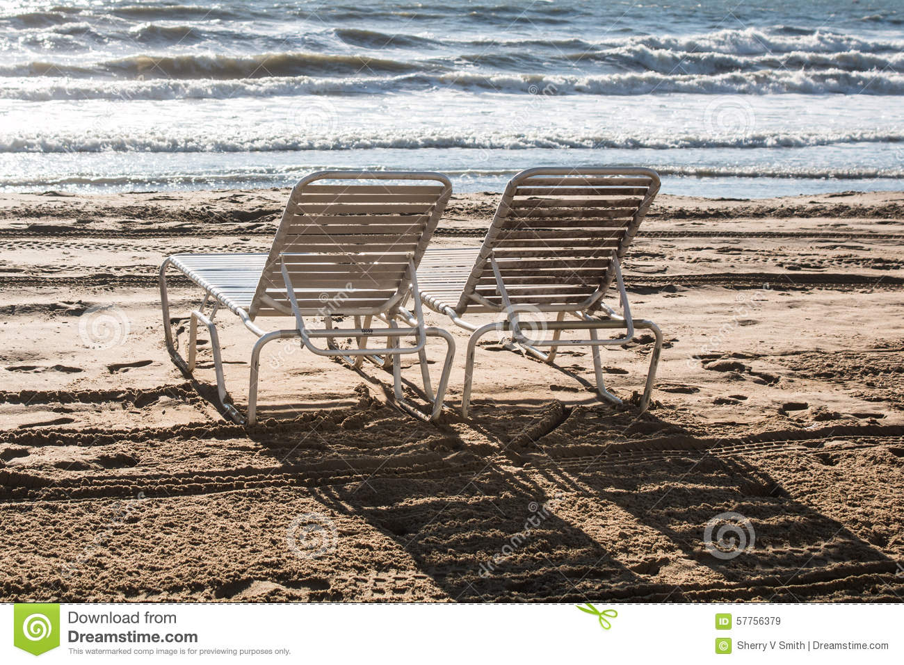 Royalty free stock images lounge chairs on beach image 57756379