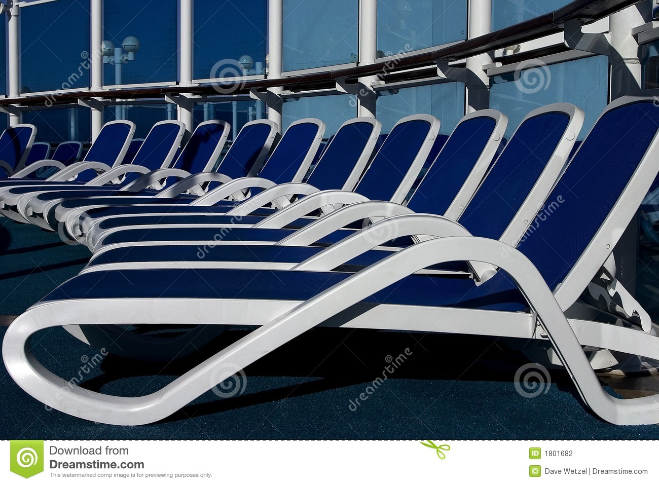 Lounge Chairs On A Cruise Ship Stock Photography Image