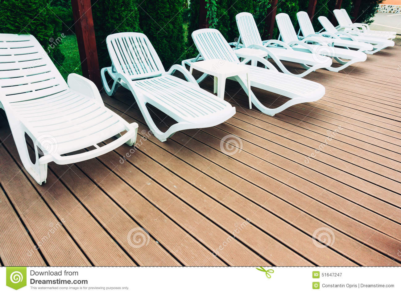 White Pool Lounge Chairs: Lounge Chairs Stock Photo