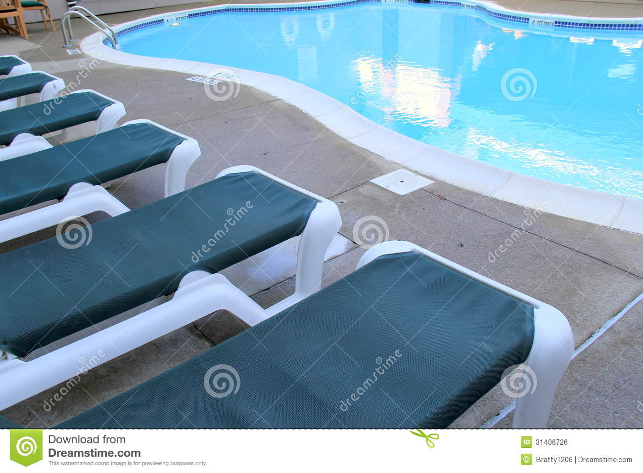 Lounge Chairs At The Poolside Royalty Free Stock Image Image