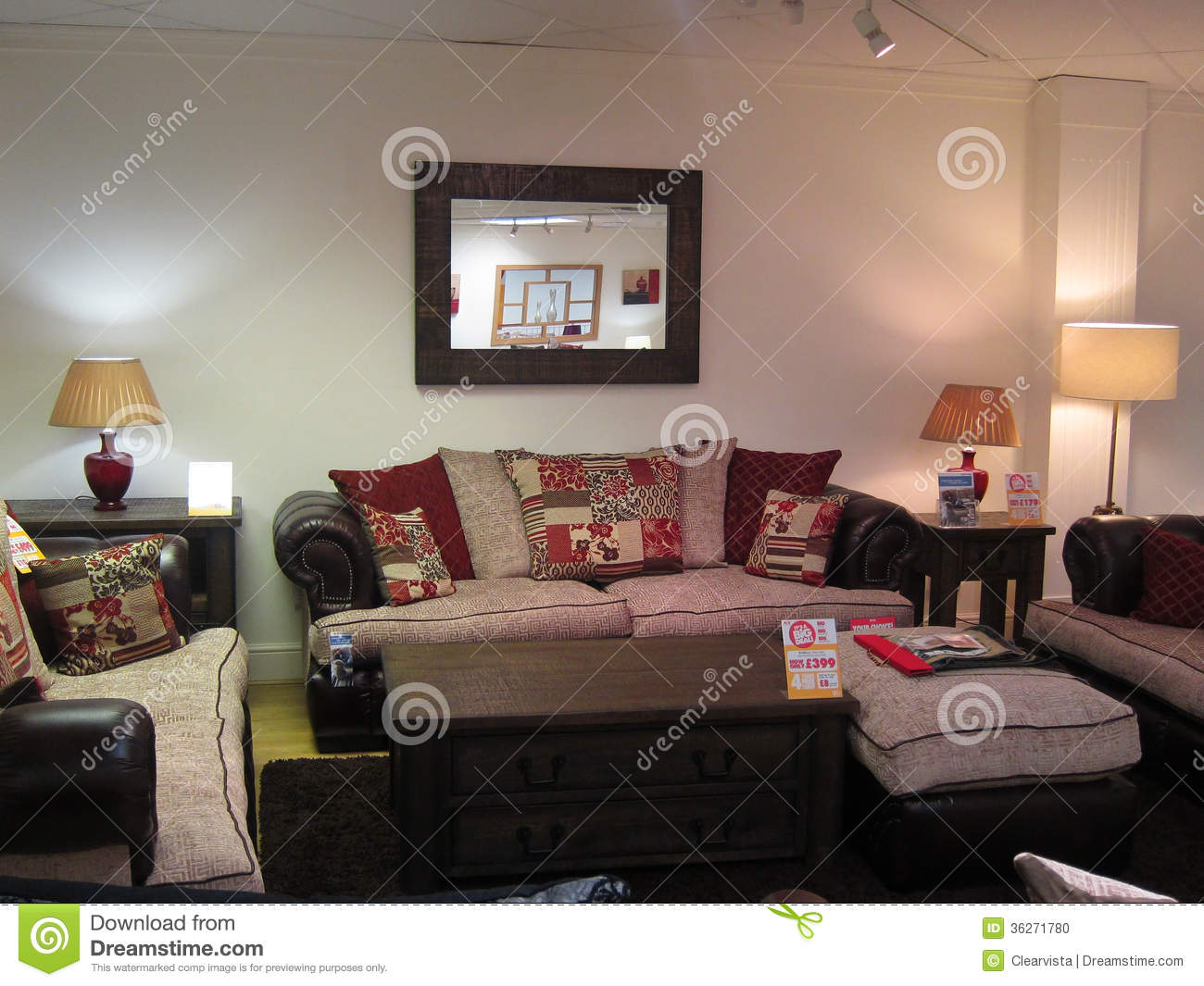 Lounge Furniture Display In A Store  Editorial Image - Image