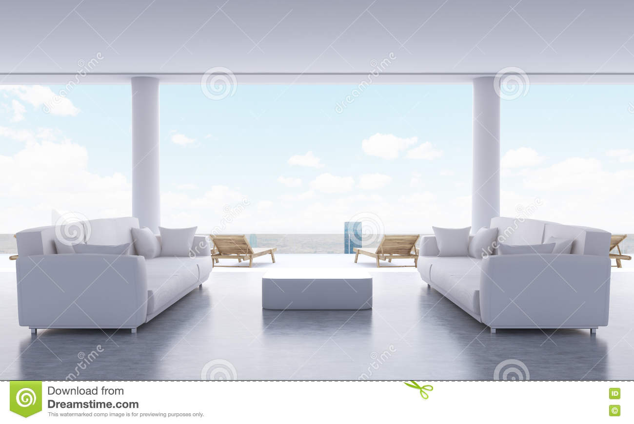 Lounge Interior With Couches