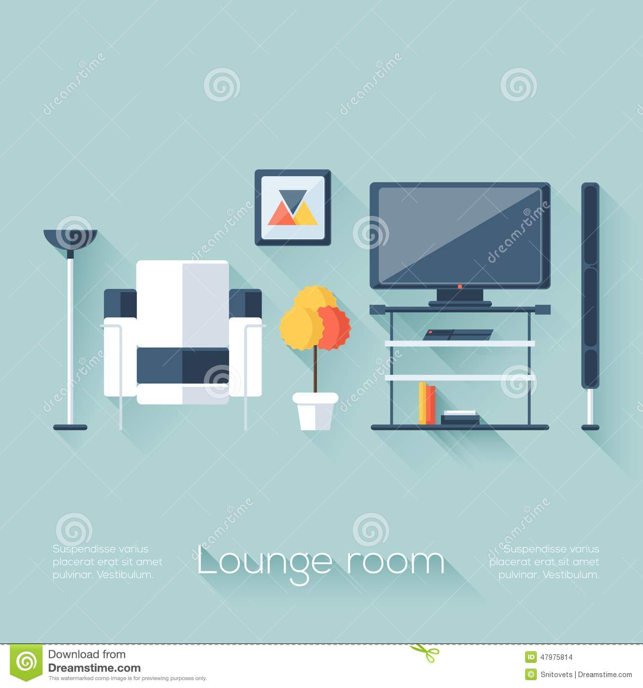 Lounge Or Sitting Room Cover With TV, Console, Sofa
