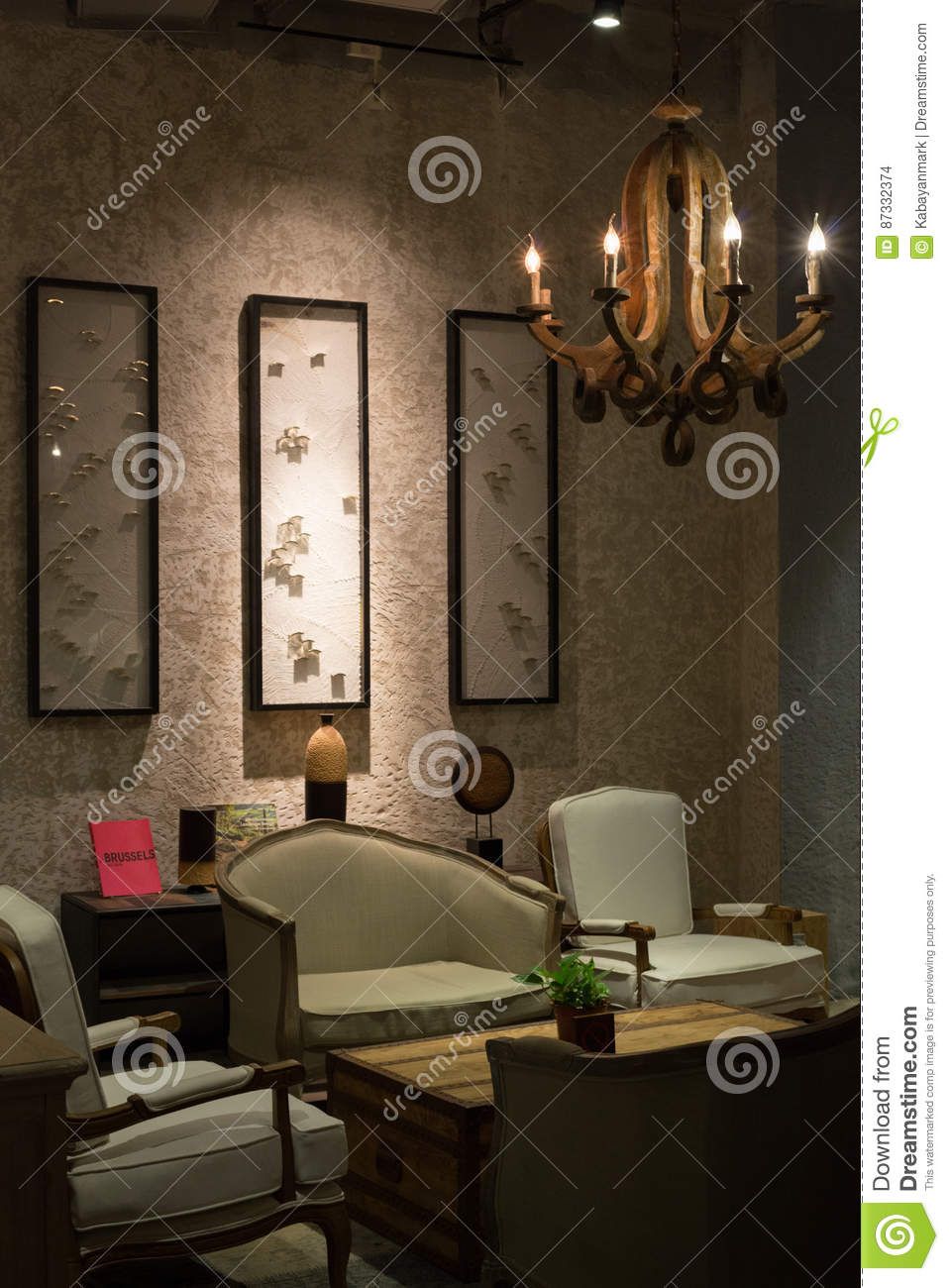 Lounge In Style   Historic Style Sofa And Interior Decoration Editorial  Stock Image