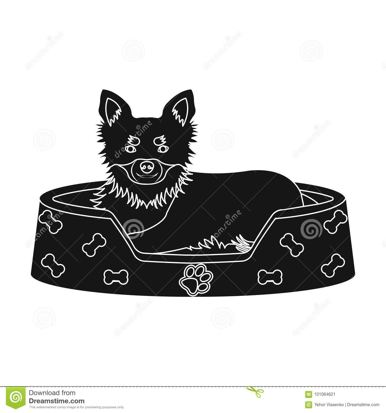 Lounger for a pet a sleeping place dogcare of a pet single icon lounger for a pet a sleeping place dogcare of a pet single icon in black style vector symbol stock illustration web buycottarizona