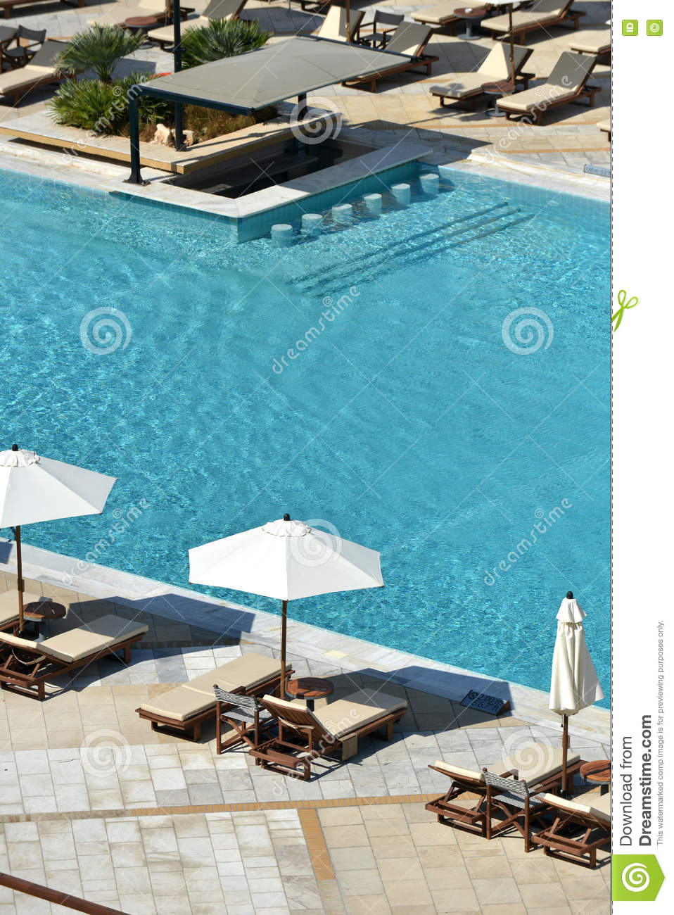 Loungers And Pool Stock Image Image Of Umbrella Ripple 79974307