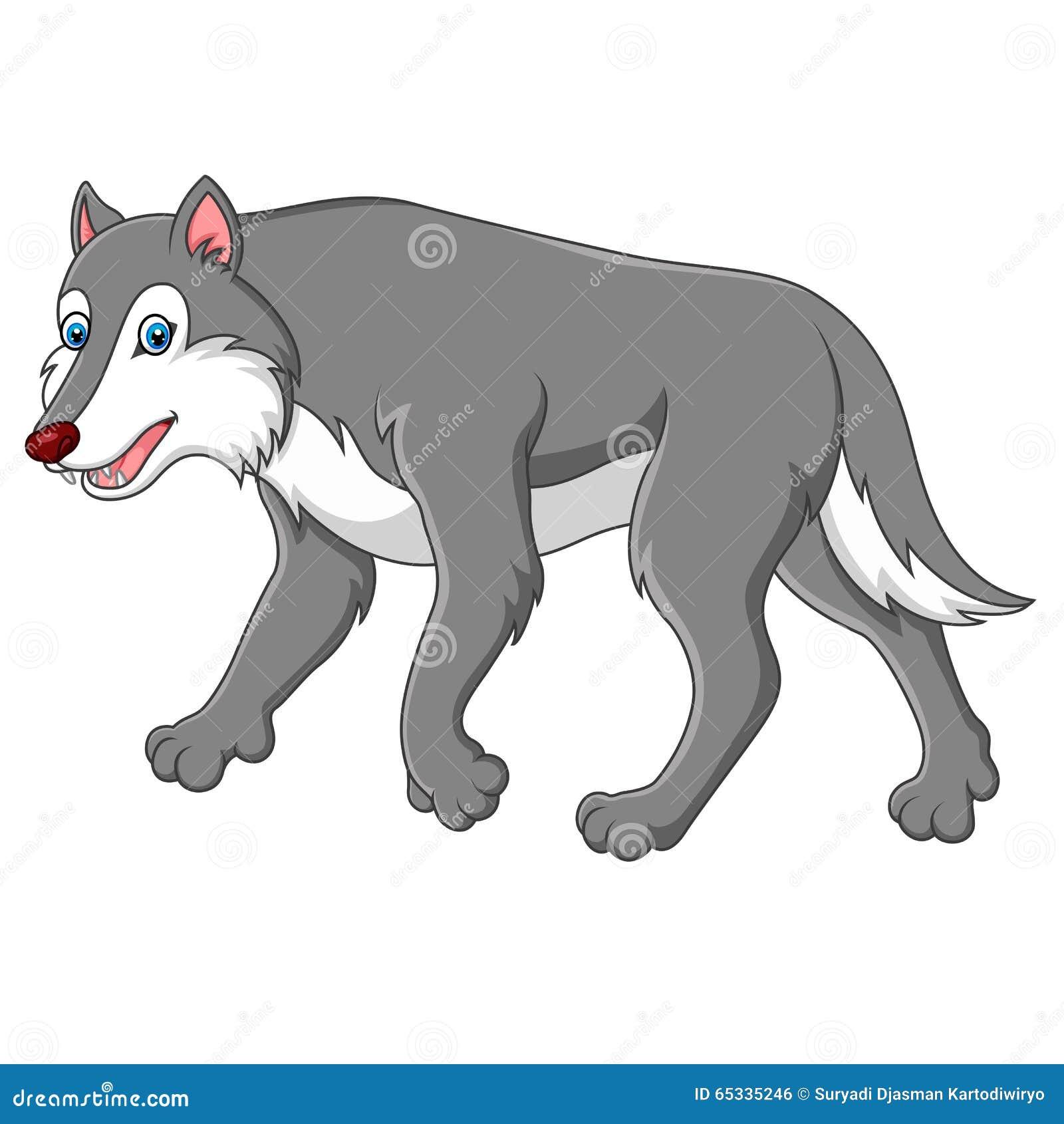 Loup mignon de dessin anim illustration de vecteur - Image loup dessin ...