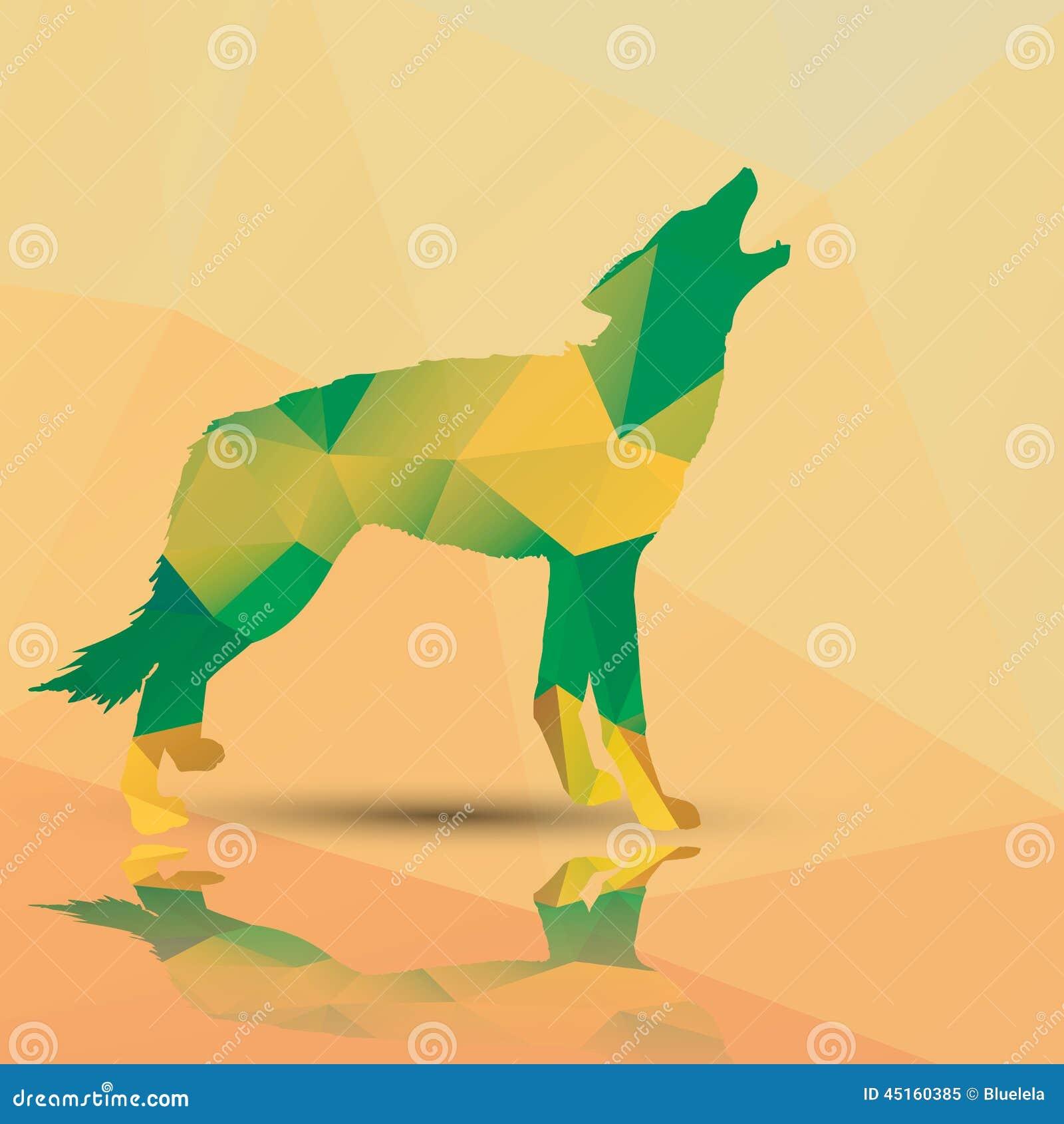 Loup Polygonal Geometrique Conception De Modele Illustration De