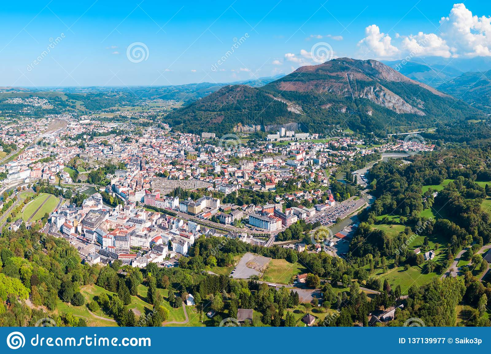 Lourdes small town in France