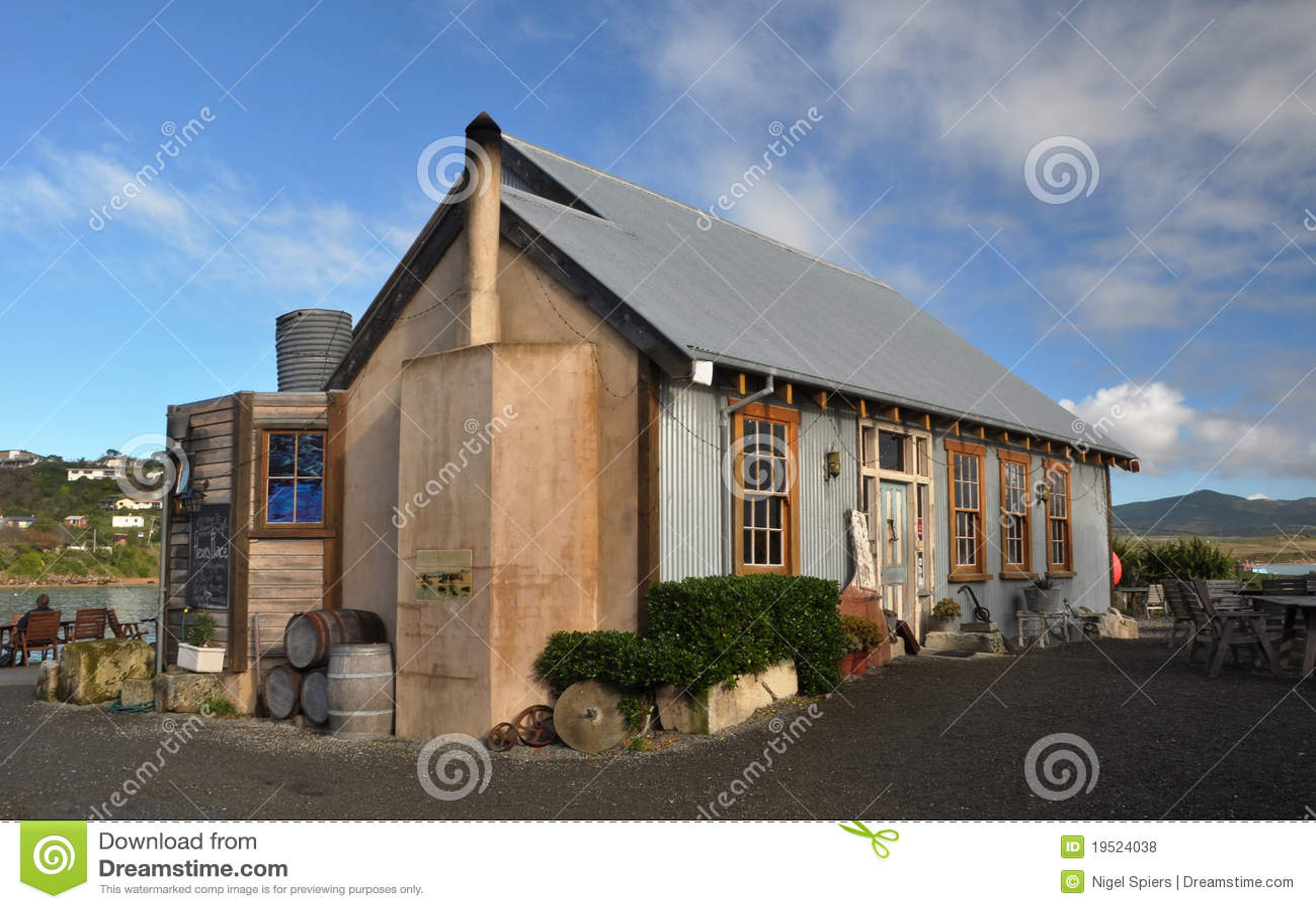 Louro de Moeraki do restaurante do lugar de Fleur, Nova Zelândia