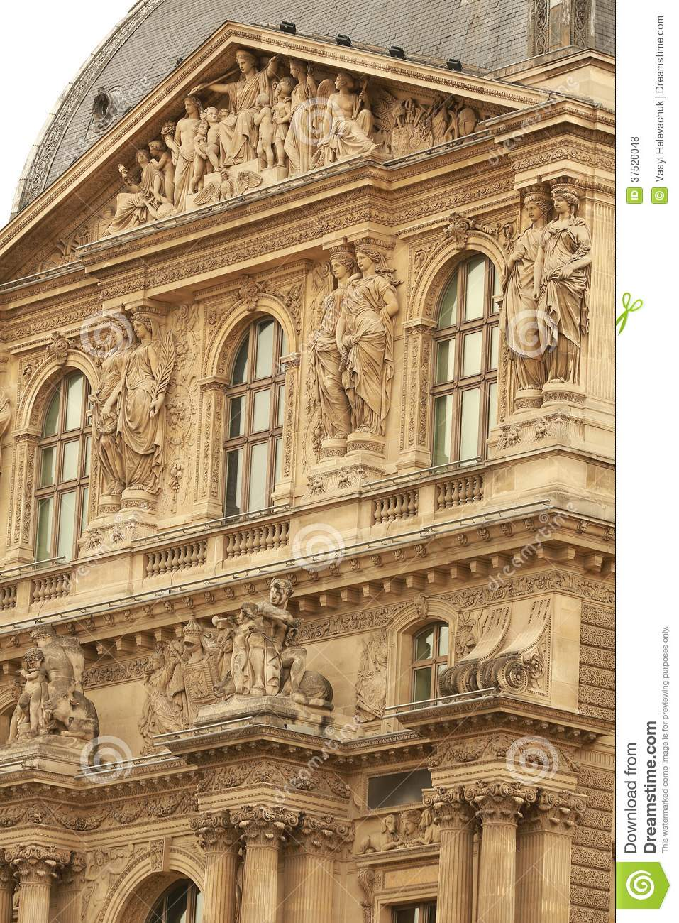 Louvre building royalty free stock photos image 37520048 - Construction of the louvre ...
