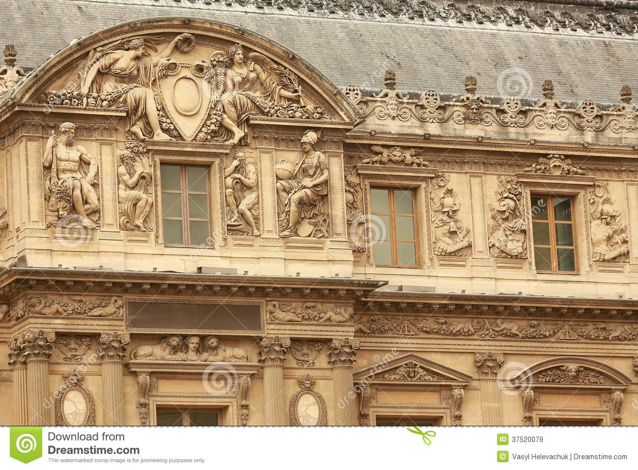 Louvre building royalty free stock images image 37520079 - Construction of the louvre ...