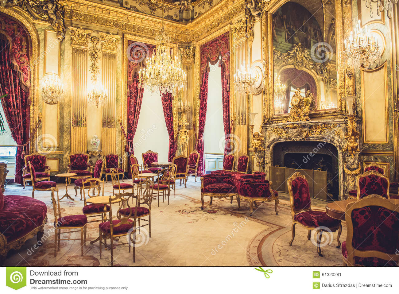 Louvre museum napoleon apartments stock image image of for Interiors furniture galleries